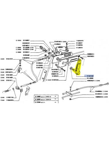 leva acceleratore - cod 5140158