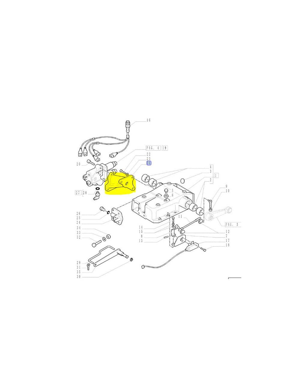 supporto valvola New Holland - cod 5181602