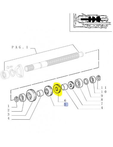 ingranaggio conduttore CNH - cod 5179672