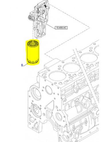 filtro olio motore CNH - cod 5801986263