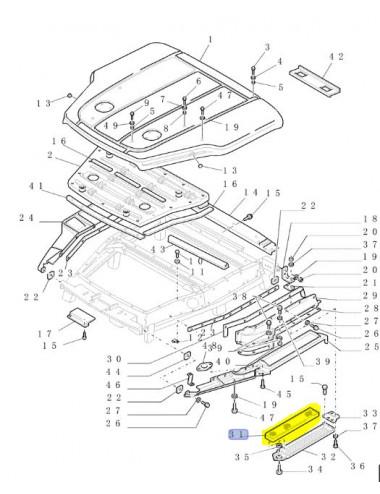 filtro aria cabina CNH - cod 9823782