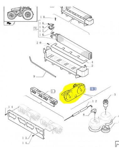 comando condizionatore CNH - cod 5178633