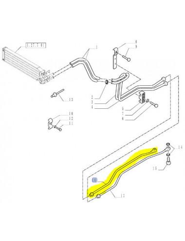 tubo rigido scambiatore calore CNH - cod 5177864