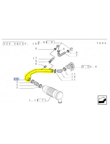 tubo filtro aria CNH - cod 5194228