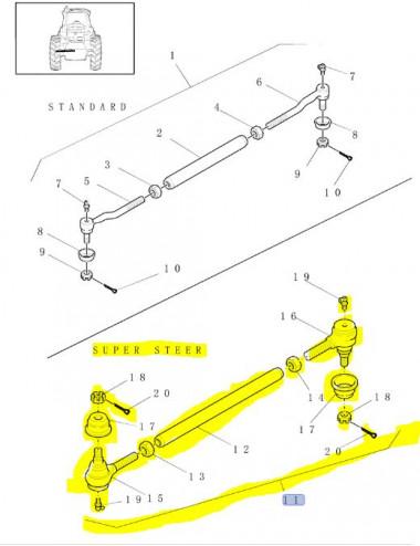 tirante sterzo CNH - cod 86019114