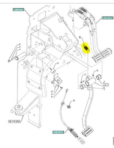 molla pedale frizione CNH - cod 84269793