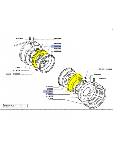 anello di pressione CNH - cod 5110095