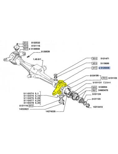 Fuso snodo New Holland - cod 5126938
