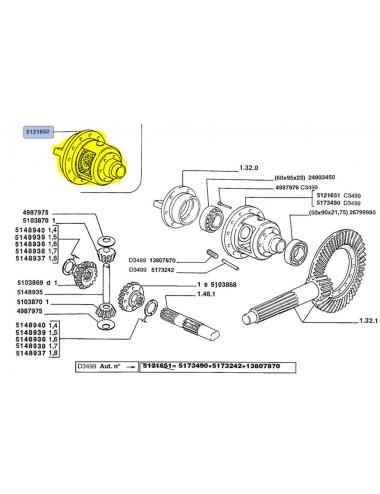 scatola differenziale CNH - cod 5121652