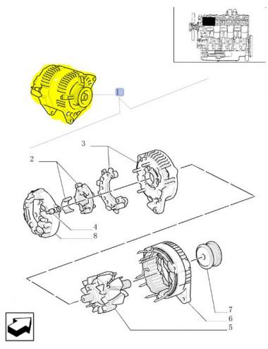 alternatore 100A CNH - cod 82010243