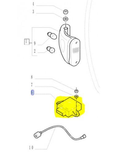 Lampeggiatore Ricambio originale New Holland cod.8202289 sostituito con cod.47633262