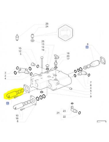 elettrovalvola 4WD CNH - cod 87472229