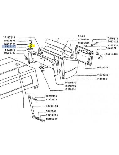 distanziale cod- 5122160 ricambio originale CNH