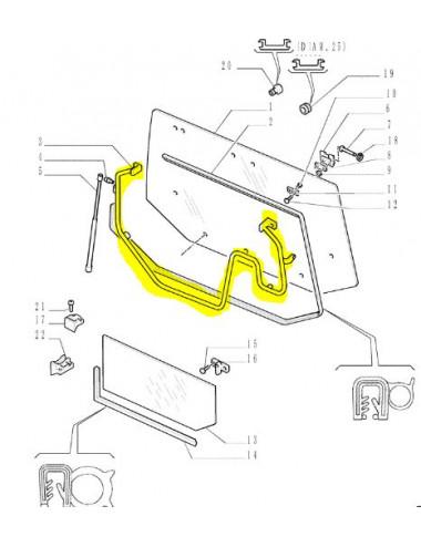 maniglia lunotto posteriore CNH - cod 82013085
