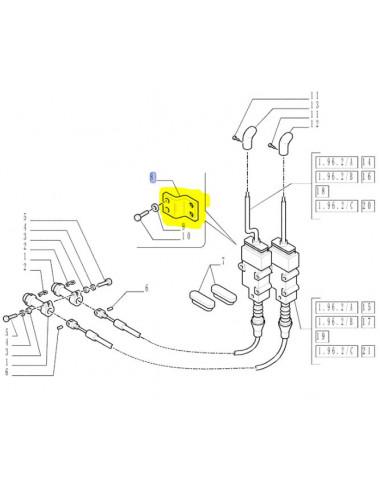 piastra collegamento leve distributori CNH - cod 82006519