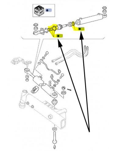 kit guarnizione pistone idroguida CNH - cod 5190916