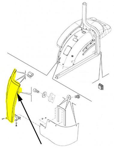 Parafango posteriore lato destro New Holland - cod 82038500