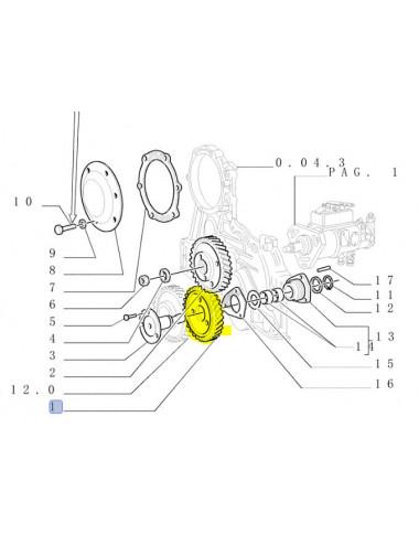 ingranaggio iniezione non originale CNH - cod 84524638