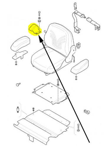 Protezione sedile lato destro New Holland -  cod 5193554