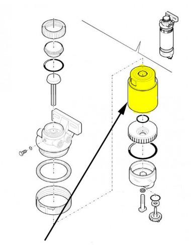 Filtro carburante New Holland - cod 87801434