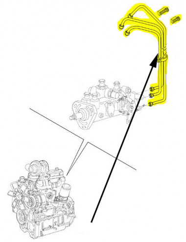 tubo carburante CNH - cod 47465028