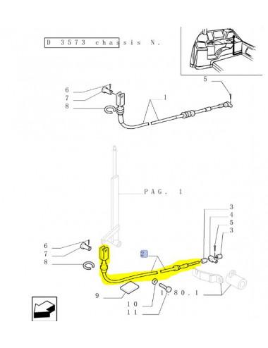 Controllo di bowden CNH - cod 82012526
