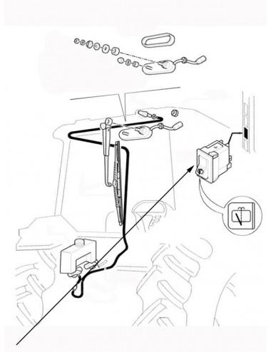 Interruttore tergicristallo posteriore New Holland - cod 5165828