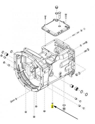 Bullone fissaggio maniglia New Holland - cod 16043424
