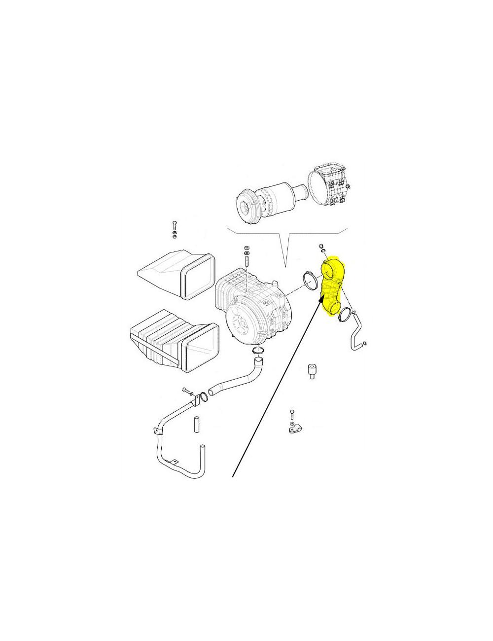 Condotto aria New Holland - cod 87304124