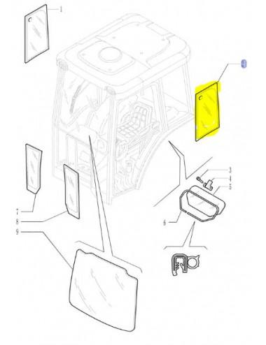 cristallo CNH - cod 87352417