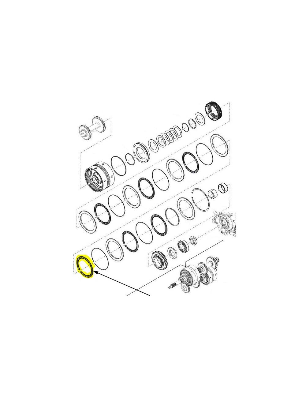 Disco frizione con tacca New Holland - cod 5199726