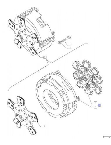 kit frizione CNH - cod 9973687