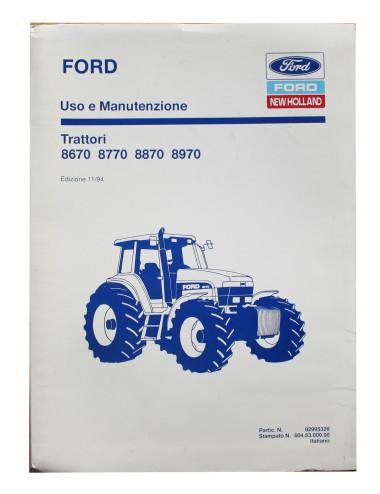manuale uso e manutenzione ford