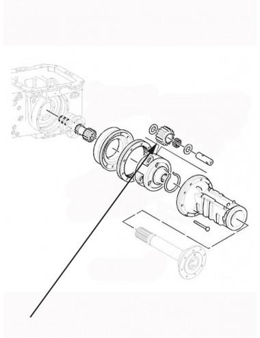 Ingranaggio riduttore laterale New Holland - cod 5178623