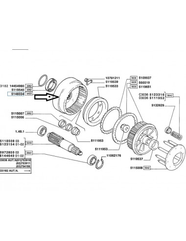 Tamburo assale posteriore New Holland - cod 5148334