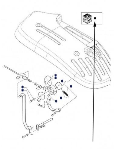 kit unità di comando esterno sollevatore - cod 87752177