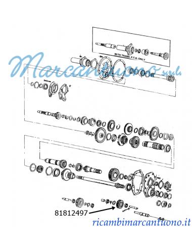 Ingranaggio di rinvio trasmissione New Holland - cod 81812497