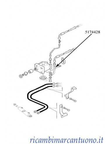 Tubo rigido New Holland - cod 5174428